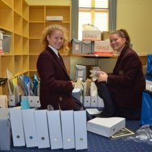 Students Get Hands Dirty Archiving